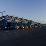 CoraBros - Busses Lined Up