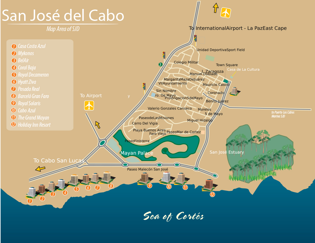 San Jose del Cabo, BCS, Mexico Map