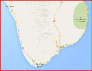 Baja SUR Map Cora Bros